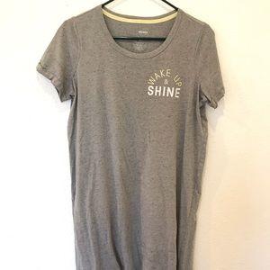 Gray Pajama Dress